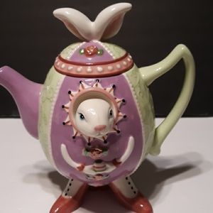 Vintage alice in wonderland teapot